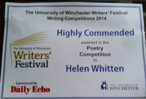 Highly Commended 2014