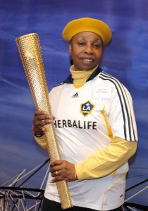 monica-and-the-olympic-torch